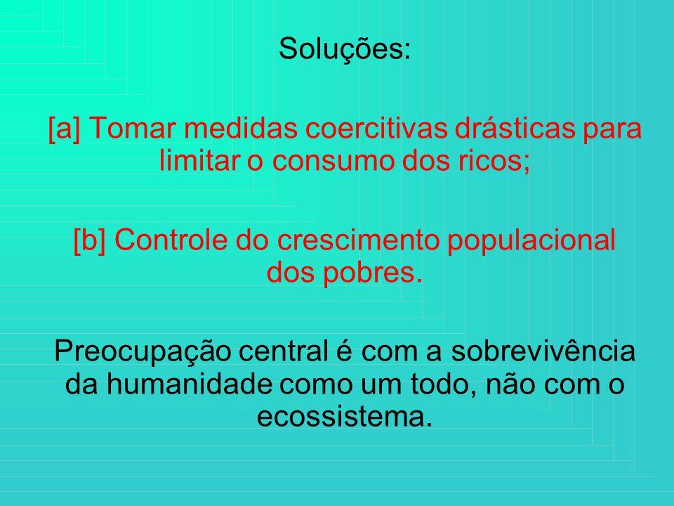 [b] Controle do crescimento populacional dos pobres.